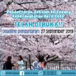 Pendaftaran Sekolah ke Jepang Keberangkatan April 2020